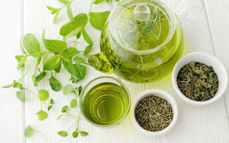 Sort og grønn te